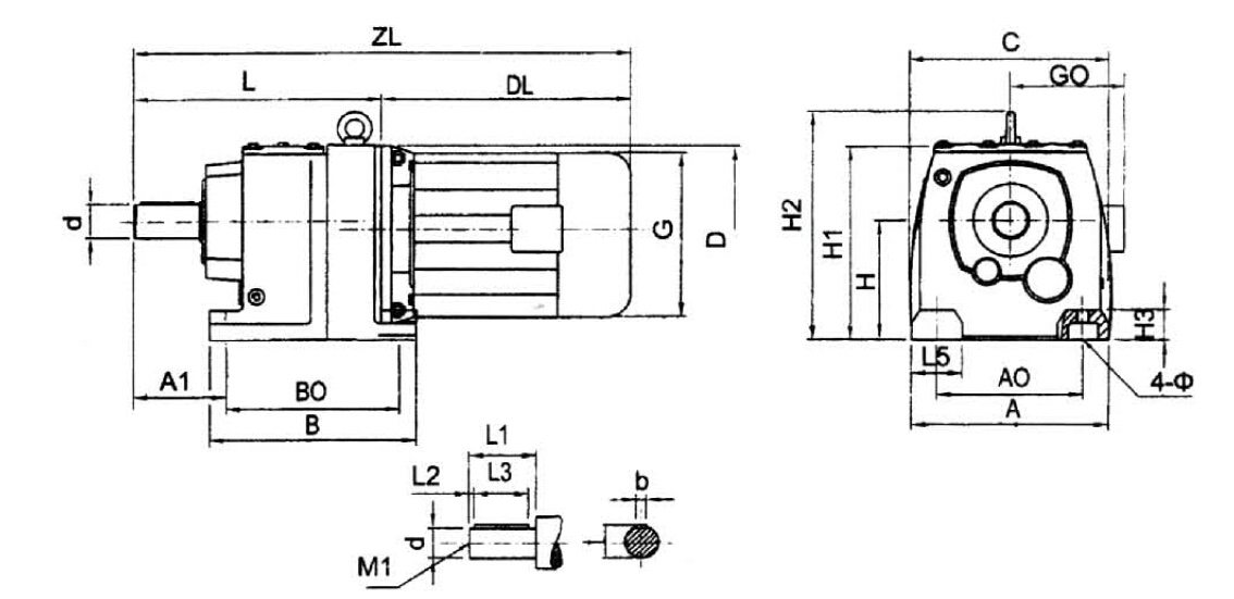 R系列模块化组合齿轮减速机